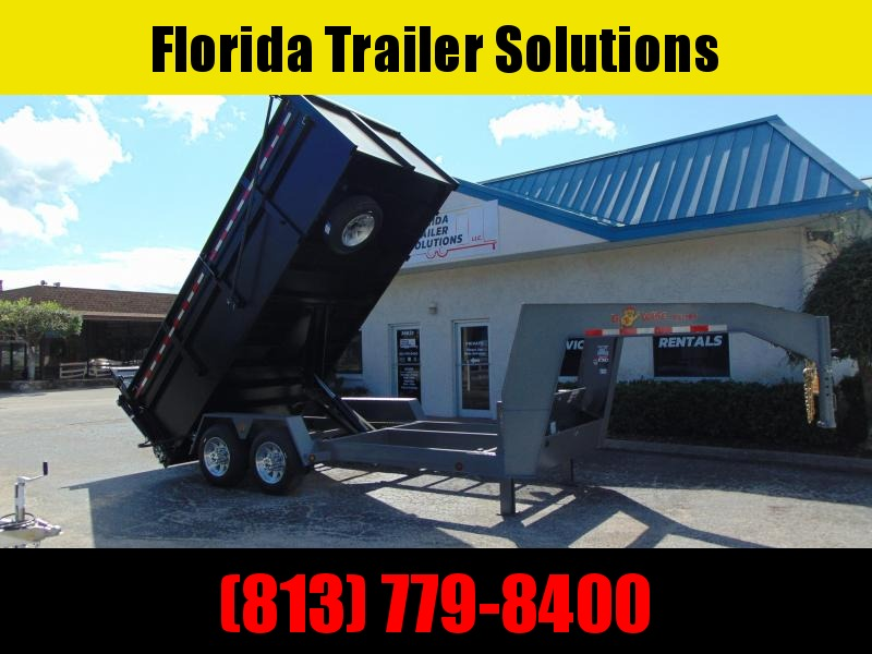 New B-Wise 82X16 Gooseneck Ultimate 19.2k Dump Trailer