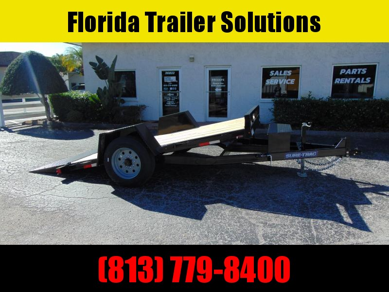 New Sure-Trac 78X12 Tilt Deck 10k Equipment Trailer
