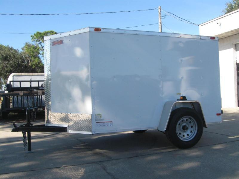 5x8 Trailer V-Nose Enclosed Cargo Trailer