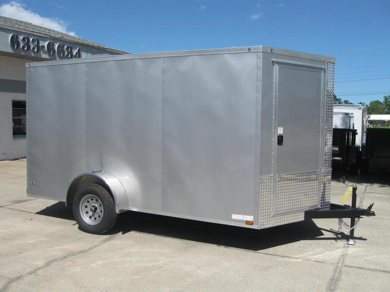 7x12 Therma Cool V-Nose Cargo Trailer