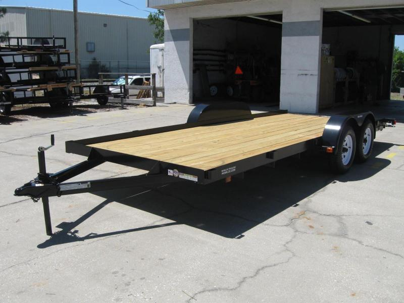 7x16 Wood Floor Car Hauler