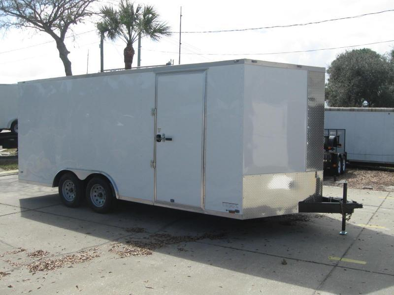 8.5x18 Trailer V-Nose Enclosed Cargo Trailer