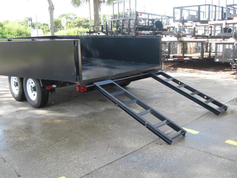 7x14 Dump Trailer Heavy Duty 14000 lb. 7 Ton GVWR
