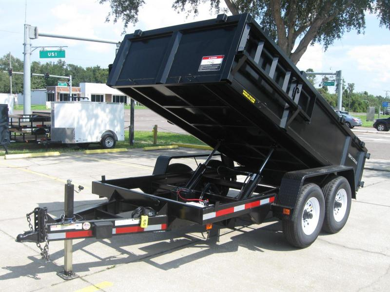6x12 Dump Trailer Heavy Duty 12000 lb. 6 Ton GVWR
