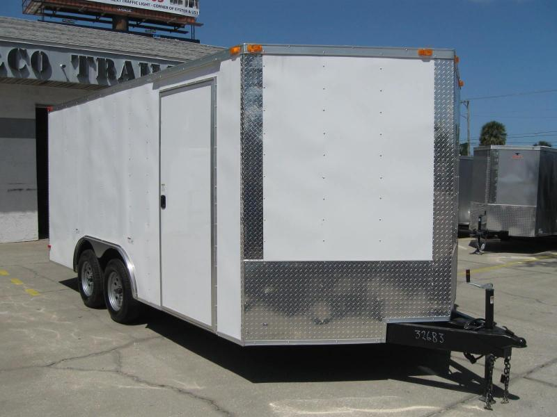 8.5x16 Trailer V-Nose Enclosed Cargo Trailer
