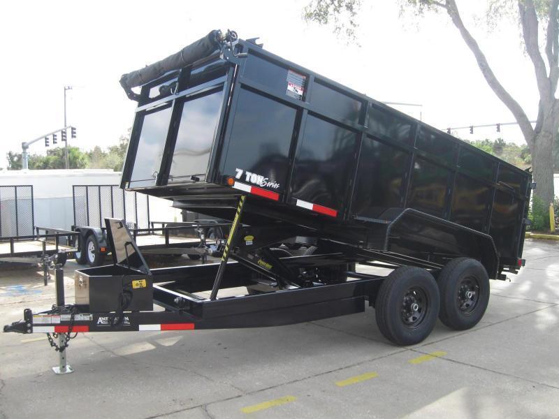 7x14 Dump Trailer 4' SIDES HD 14K / 7 Ton