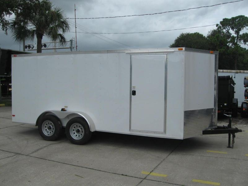 "7x16 V-Nose Enclosed Cargo Trailer 6' 6"" TALL"