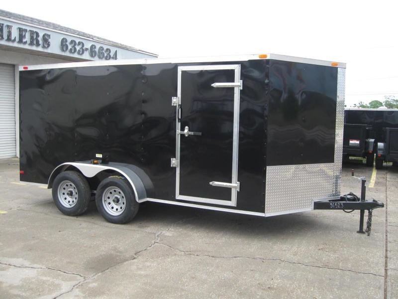 7x14 Trailer V-Nose Enclosed Cargo Trailer