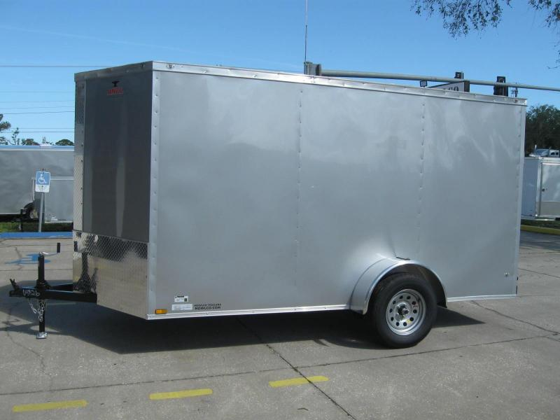 6x12 Trailer V-Front Enclosed Cargo Trailer