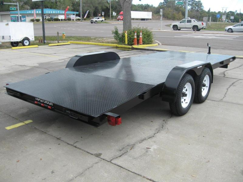 7x18 Trailer Diamond Deck Car Hauler
