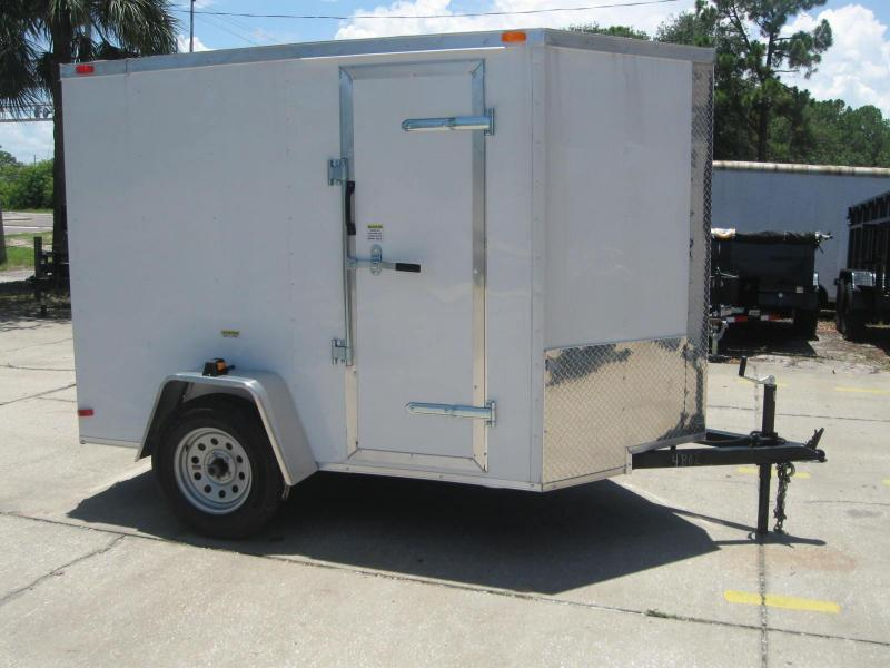 5x8 V-Nose 6' TALL Enclosed Cargo Trailer