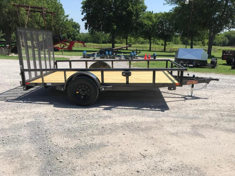 "NEW MAXXD 12' X 77"" PIPETOP SINGLE AXLE UTILITY"