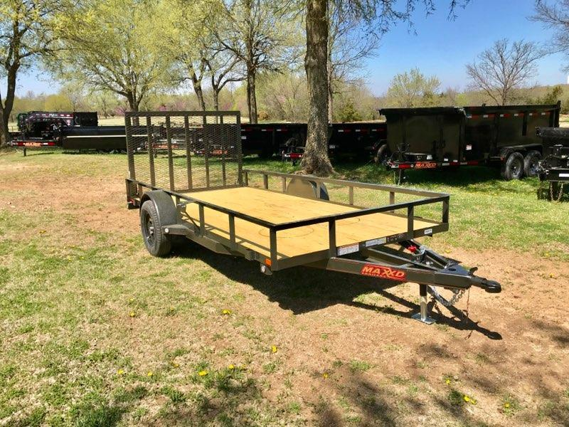 "NEW MAXXD 14' x 77"" SINGLE AXLE UTILITY"