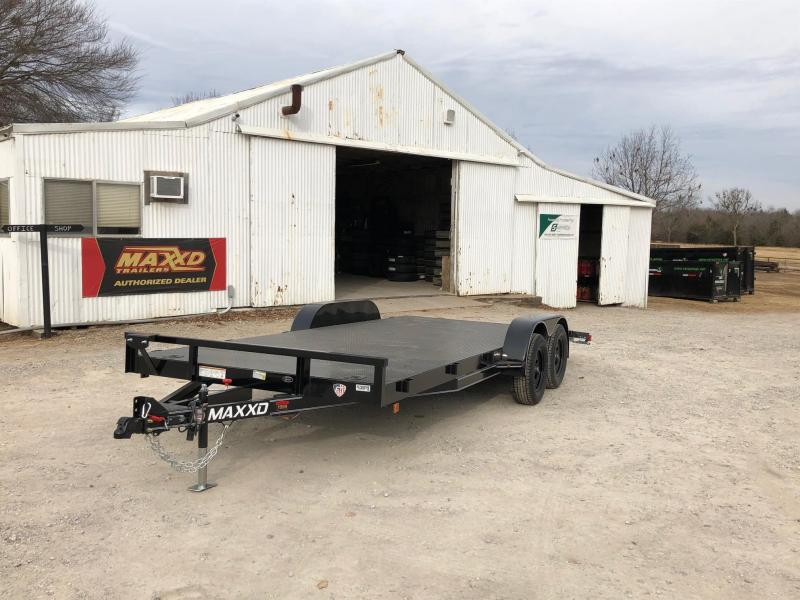 "NEW MAXXD 18' X 83"" - STEEL FLOOR CHANNEL CARHAULER"