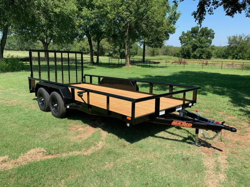 "NEW MAXXD 16' X 83"" PIPE-TOP UTILITY WITH GATE (1/4"" FRAME)"