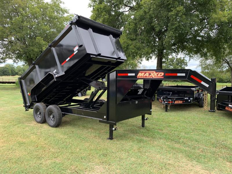 "NEW MAXXD 14' X 83"" I-BEAM GOOSENECK HIGH SIDE DUMP"
