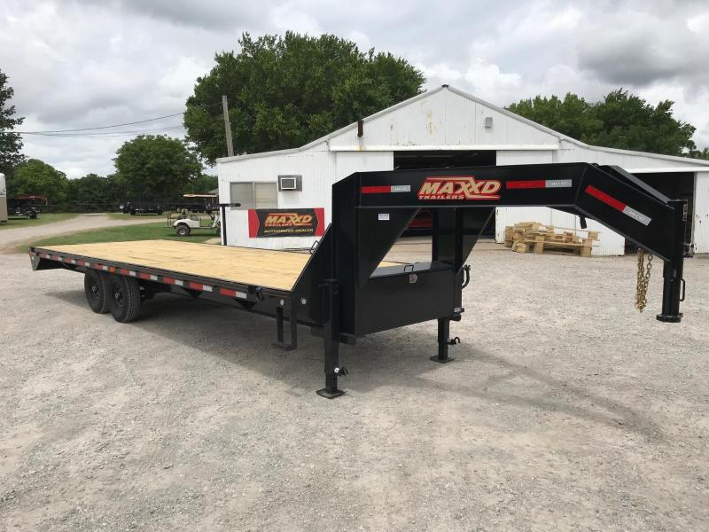 NEW MAXXD 25' GSX STRAIGHT DECK FLATBED WITH SINGLES