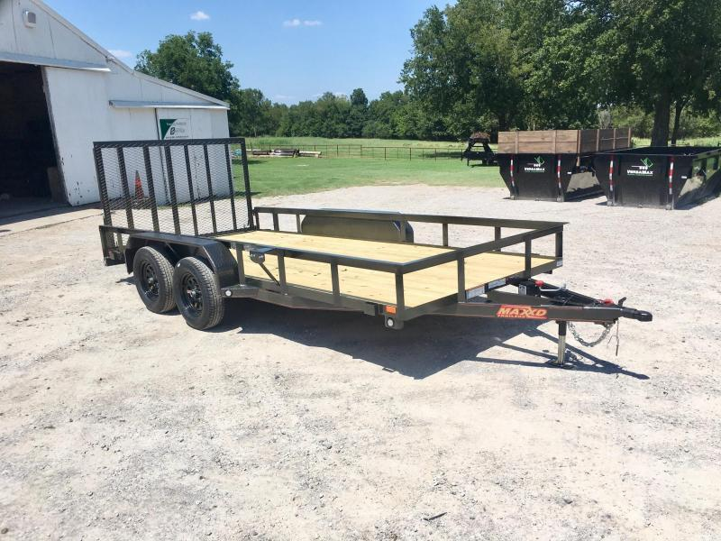 "NEW MAXXD 16' X 83"" TANDEM AXLE UTILITY WITH GATE"