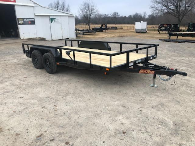 "NEW MAXXD 16' x 83"" HD UTILITY W/ TUBING FRAME AND SLIDE-IN RAMPS"