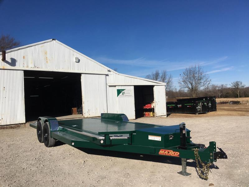 "USED MAXXD 20' X 83"" TUBING CAR HAULER - STEEL FLOOR HD"