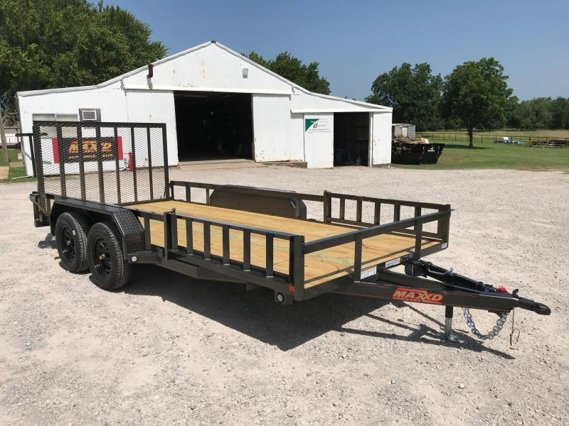 """NEW MAXXD 16' X 83"""" UTILITY WITH SIDE LOAD AND REAR GATE"""