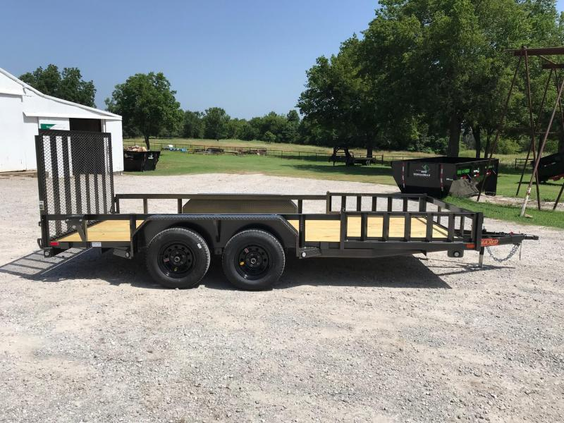 "NEW MAXXD 16' X 83"" UTILITY WITH SIDE LOAD AND REAR GATE"