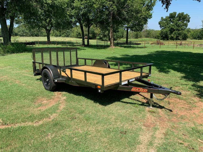 "NEW MAXXD 12' X 77"" SINGLE AXLE UTILITY WITH DOVETAIL"