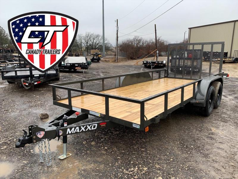 "NEW MAXXD 16' x 77"" UTILITY W/ GATE"