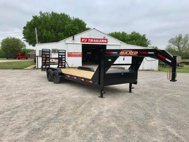 "NEW MAXXD 22' X 83"" GOOSENECK EQUIPMENT HAULER"