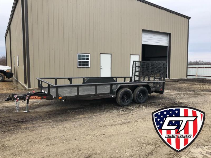 "NEW MAXXD 16' X 83"" ALL-STEEL UTILITY WITH HD GATE"