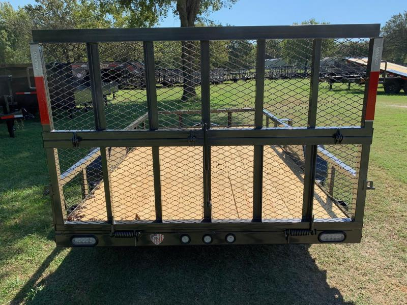 "2020 MAXXD 12' x 77"" Single Axle Utility w/ Bi-Fold Gate"