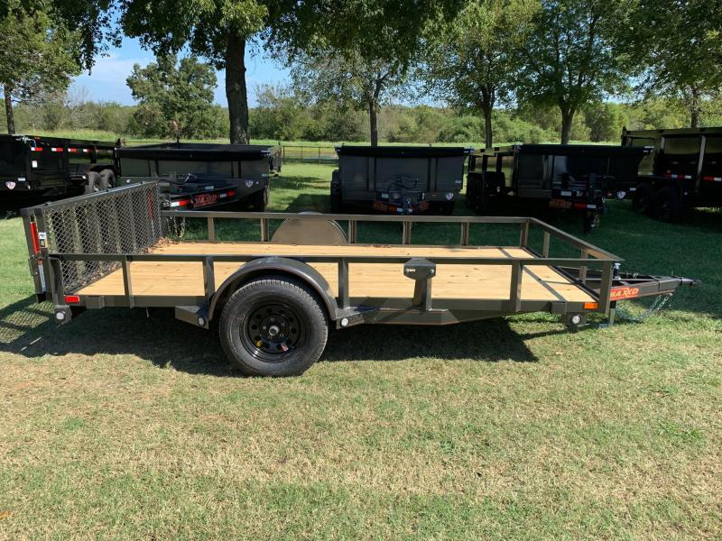 "NEW MAXXD 12' X 77"" SINGLE AXLE UTILITY WITH BI-FOLD GATE"