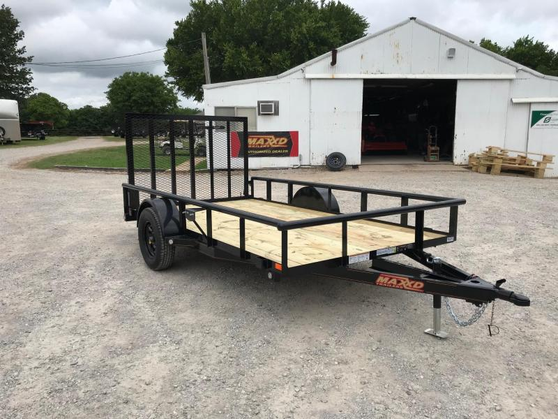 "NEW MAXXD 12' X 77"" PIPE-TOP SINGLE AXLE UTILITY"