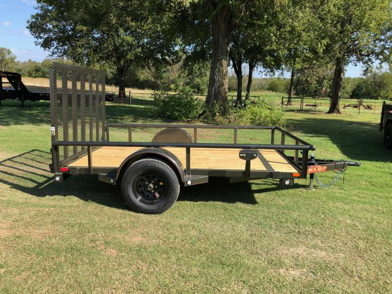 "2020 MAXXD 10' x 77"" Pipe-Top Single Axle Utility"