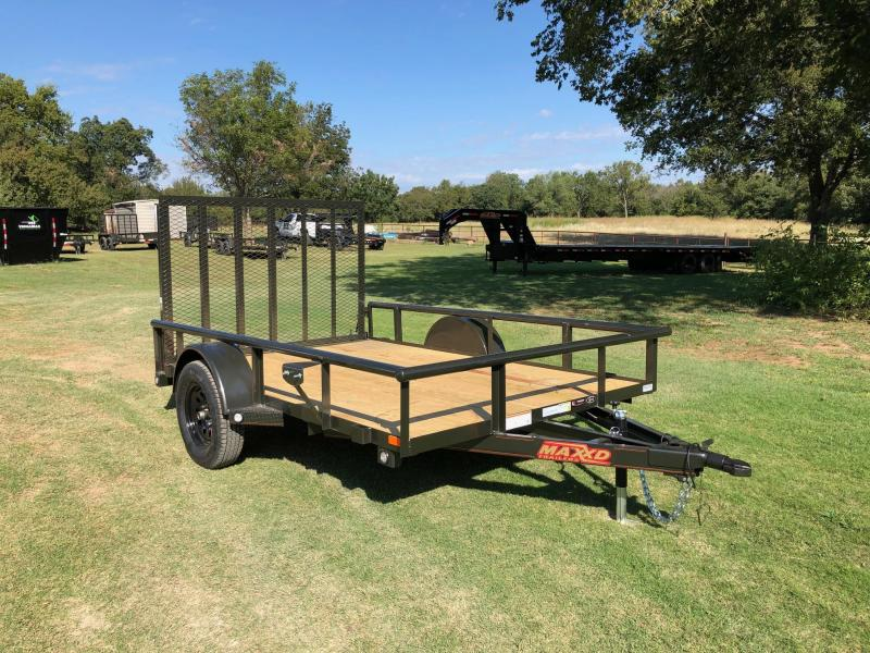 "NEW MAXXD 10' X 77"" PIPE-TOP SINGLE AXLE UTILITY"