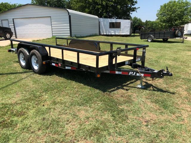 "NEW PJ TRAILERS 16' X 83"" HD PIPETOP EQUIPMENT HAULER WITH SLIDE-IN RAMPS"