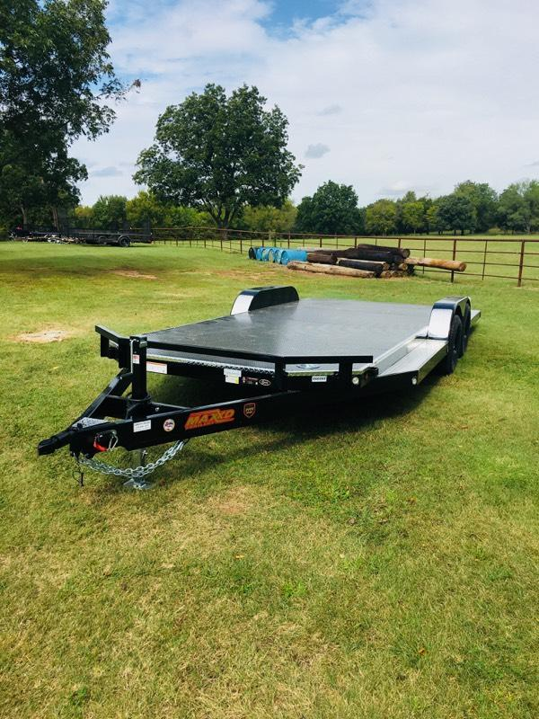 "NEW MAXXD 20' X 83"" TUBING CAR HAULER - STEEL FLOOR"