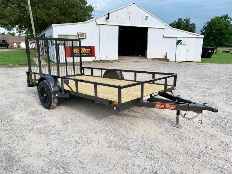 "NEW MAXXD 12' X 77"" SINGLE AXLE UTILITY"
