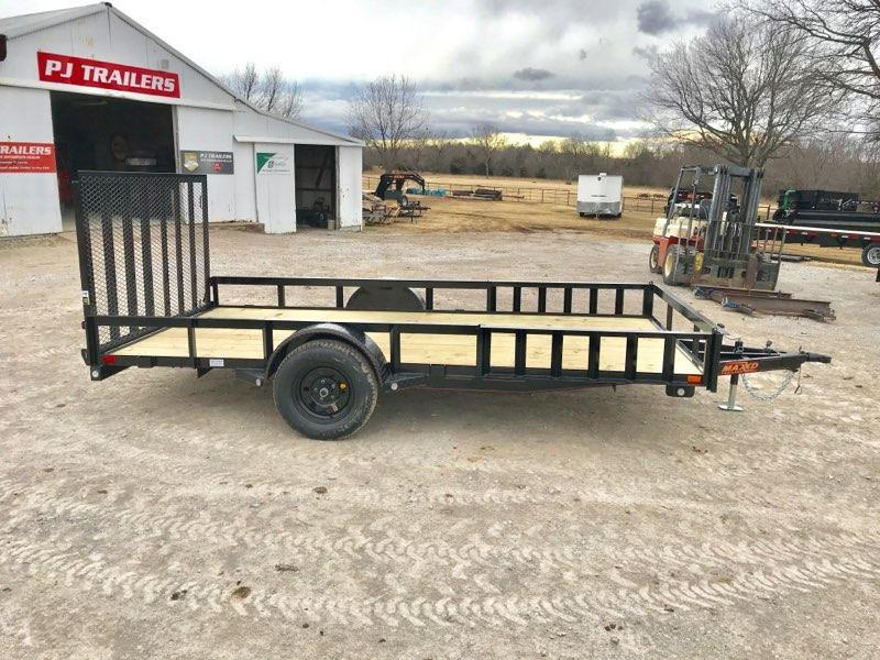 "NEW MAXXD 14' x 83"" SINGLE AXLE UTILITY WITH SIDE LOAD ATV RAMPS"