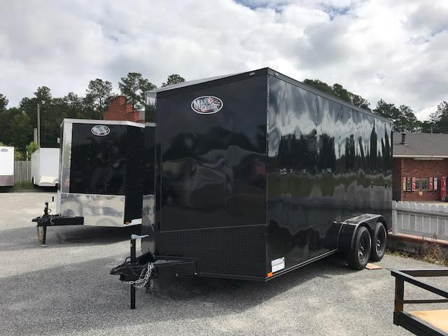 2020 7x16 TA Blackout Enclosed Cargo Trailer