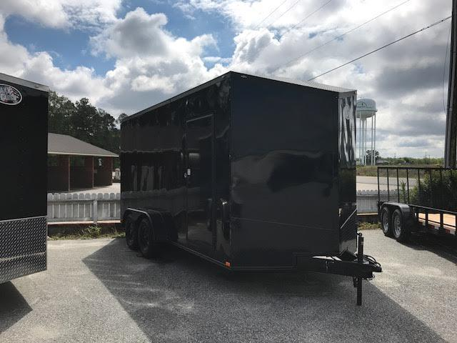 2020 Anvil 7x14 TA Blackout Motorcycle Trailer
