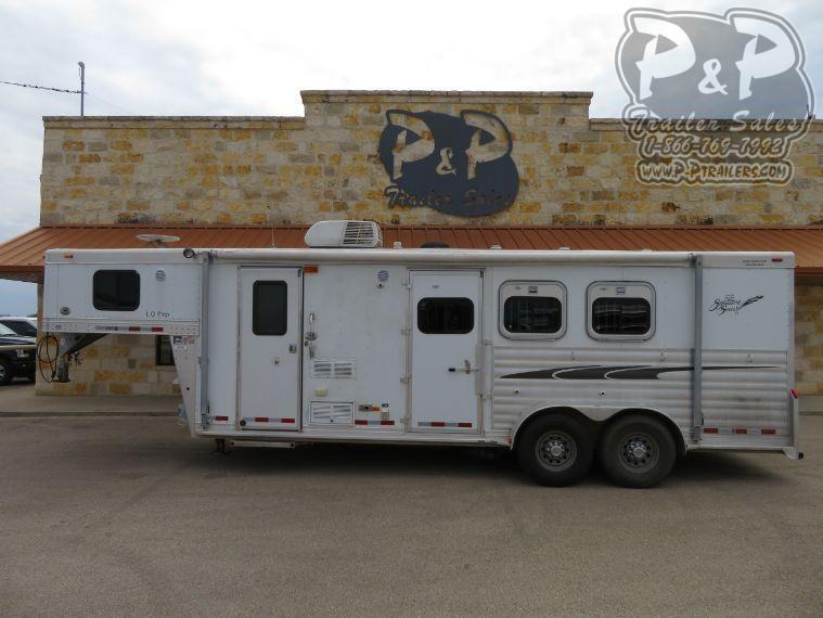 2004 Cherokee 7308 3 Horse Slant Load Trailer 8 FT LQ