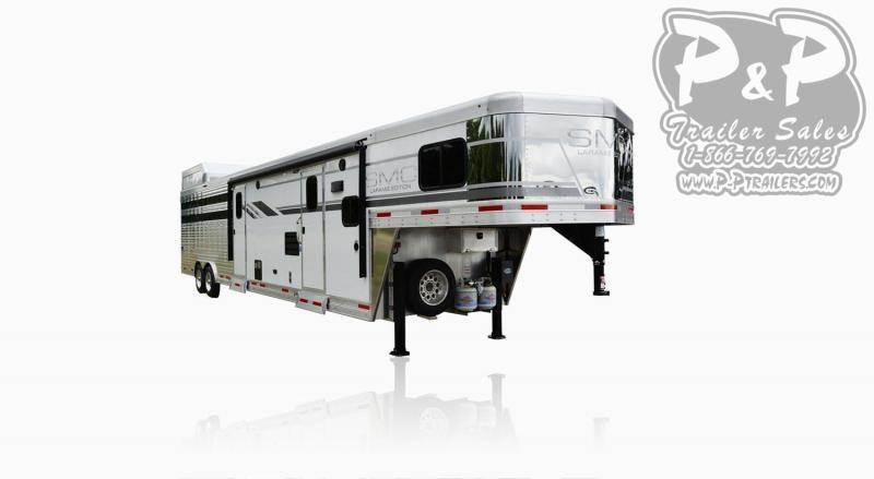 2019 SMC Horse Trailers SLE8X11SFK LARAMIE 11ft LQ Livestock Trailer