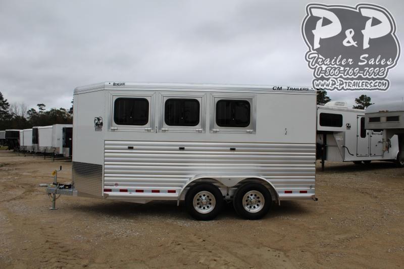 2020 CM CMH5043-16 RENEGADE 3 Horse Slant Load Trailer