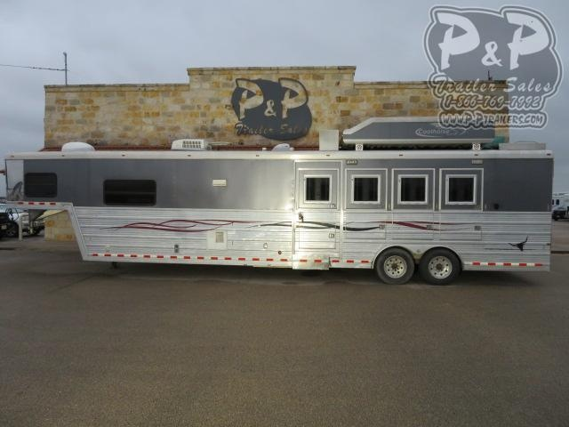 2008 Bloomer 8416 4 Horse Slant Load Trailer 16 FT LQ