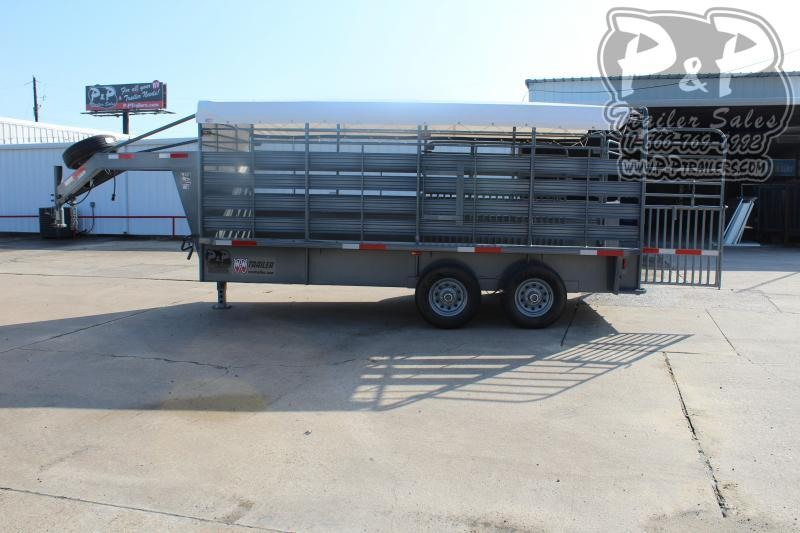 "2019 W-W Trailer Roustabout 16x68"" 16 ft Livestock Trailer"