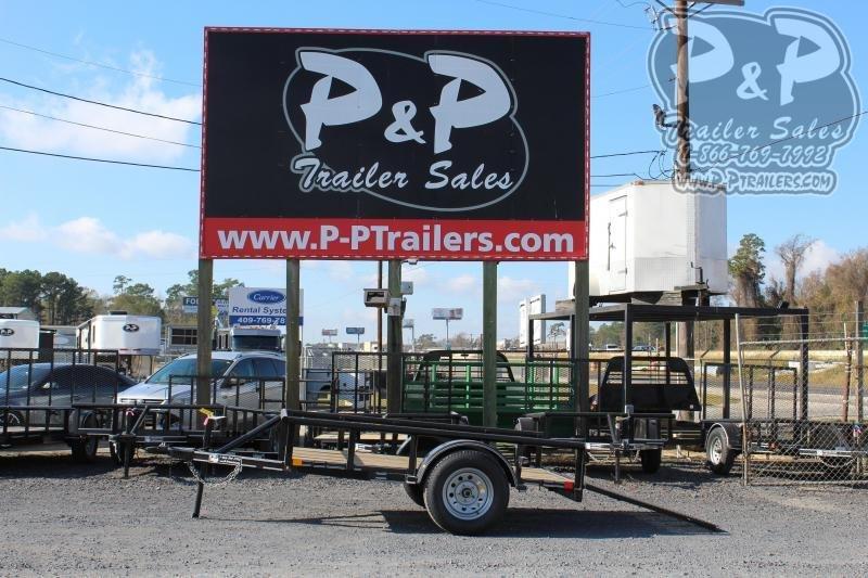 2020 P and P PPSA08X60LDRGPT 60 x 8 ft Utility Trailer