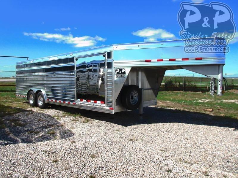 2018 Bloomer 24' X 8' V-Nose Stock 24 ft Livestock Trailer