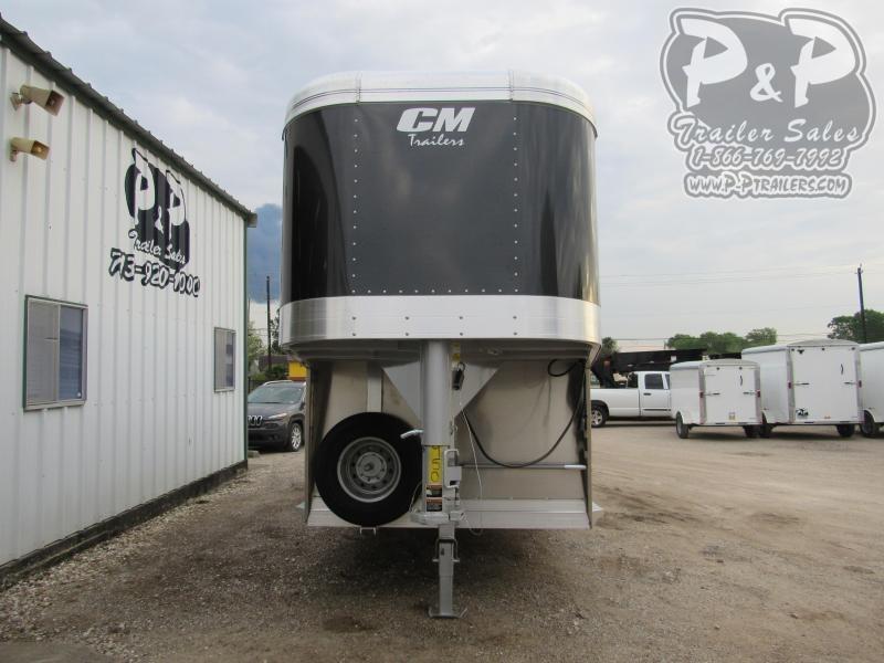 2020 CM Aluminum Roundup 24x6.8x7' 24 ft Livestock Trailer