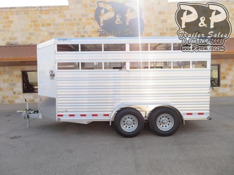 2020 CM CMS0440-16 Stocker ALV 16 ft Livestock Trailer